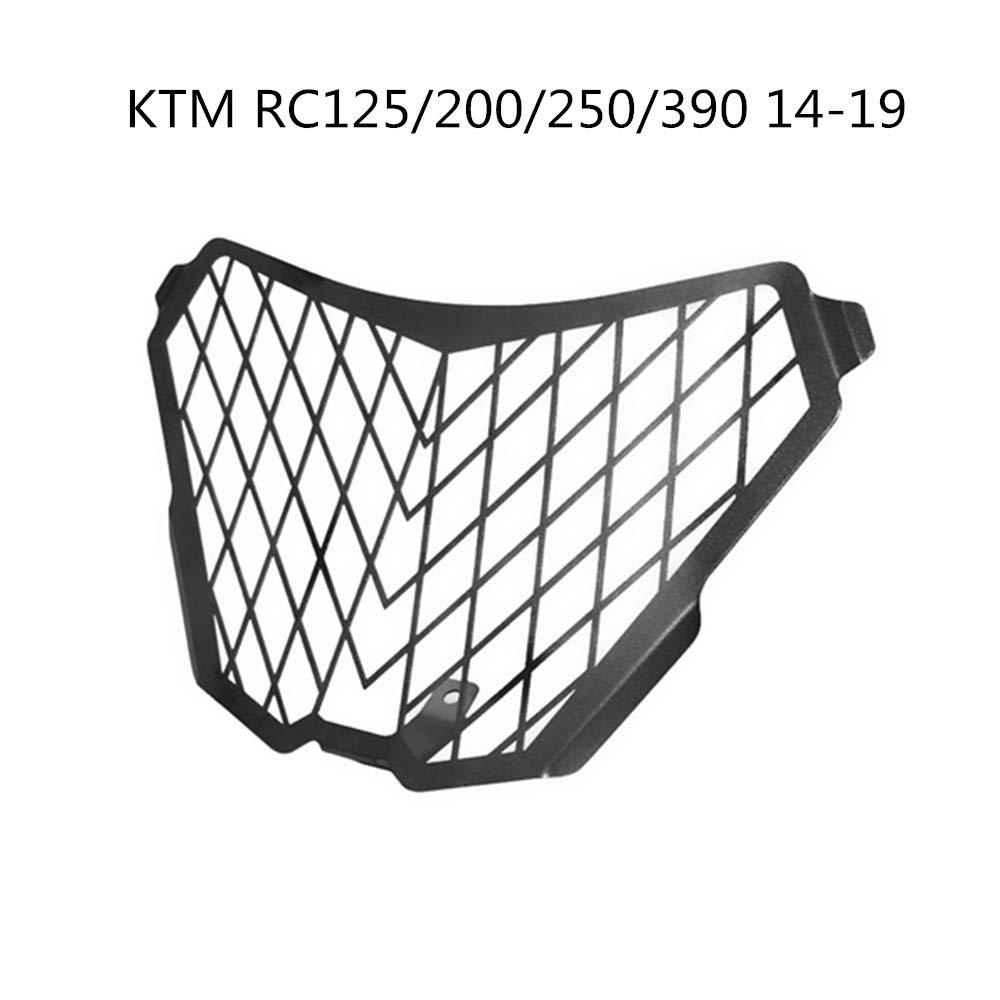 Protector de Rejilla de Aluminio CNC para Faros Delanteros para KTM RC125//200//250//390 14-19 Negro ETbotu