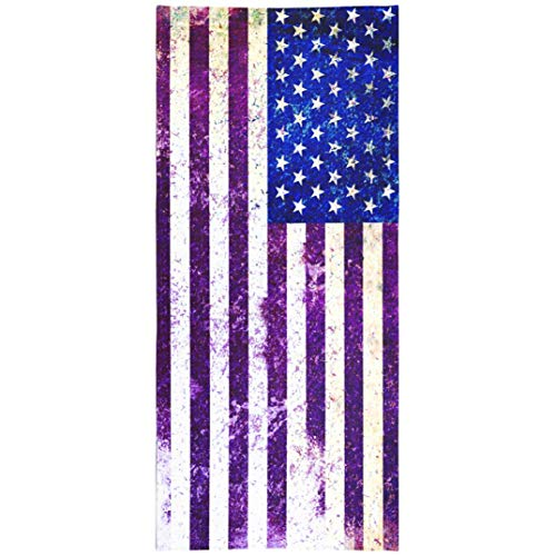 WAYATO 4th of July USA Flag Microfiber Beach Towel BeachBlanket Fast Dry Compact Beach Towels USA Flag Abstract America American Antique Banner Blue Swimming Gym Camping Sunbath 30X60 Inch