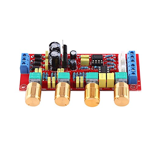 HIFI Preamp NE5532 Adjustable Pre-amplifier Volume Tone Control Board Kit AC 12V OP-AMP HIFI Amplifier Stereo Audio System(Assembled Board)