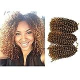 Marlibob Crochet Braids Hair Extensions 6 packs/lot 8inch kinky curly Synthetic Crochet Braiding