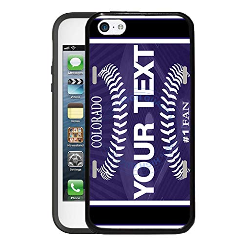Colorado Rockies Ipod Case - BRGiftShop Customize Your Own Baseball Team Colorado Rubber Phone Case for Apple iPod Touch 5th & 6th Generation
