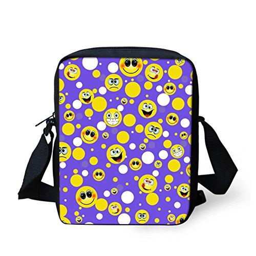 petit HUGS Y femme Emoji10 Violet pour bandoulière petit IDEA Emoji3 H357E Sac 0qrw160C