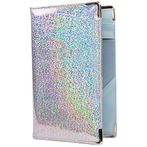 Of Course Holographic Glitter Server Book for Waitress and Waiter | Premium 5x8 Organizer Wallet with 10 Money Pockets, Zipper Pocket and Original 2 Tone Interior | Cute Fits Aprons (City Lights)