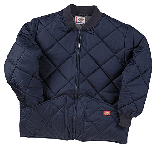 Bomber Nylon Quilted Jacket (Dickies Drop Ship Diamond Quilted Nylon Jacket, Large, DARK NAVY)