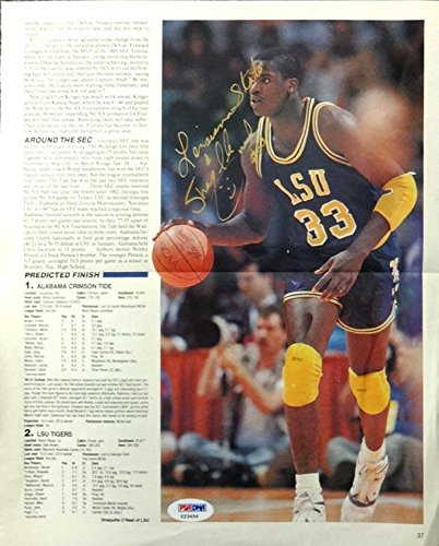 Shaquille O'Neal Autographed 9x12 Magazine Page Photo LSU Tigers Signed in College #X23454 PSA/DNA Certified
