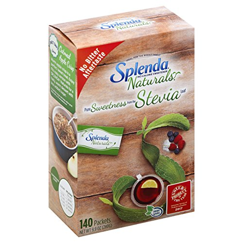 Splenda Naturals Stevia Sweetener Packets, 140 Ct-- Zero Calorie Stevia Sweetener. 100% Natural, Nothing Artificial, Best Tasting Stevia, No Bitter Aftertaste. The Taste of Sugar Without the Calories.