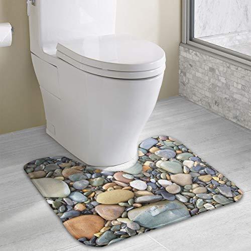 Jingclor Bath Mat Non Slip Absorbent Super Cozy Coral Velvet Bathroom Rug Toilet Carpet (15.74