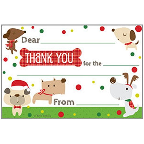 Holiday Dogs - Children's Thank You Postcards (10)