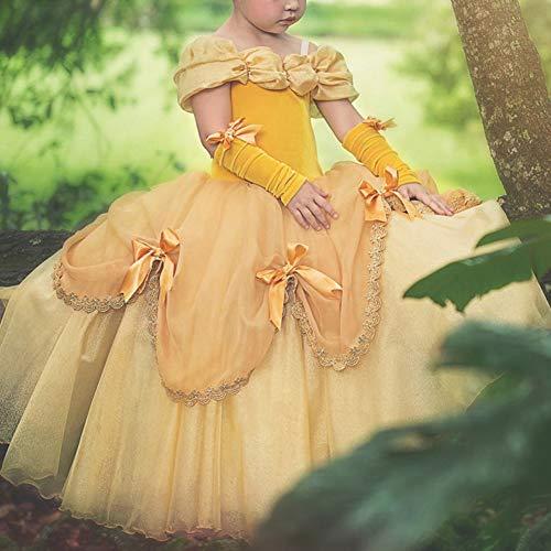 Disfraces Para Niñas Bella Y La Bestia Vestido De Carnaval Traje De Princesa Belle Vestir Para Halloween Fiesta Cosplay Costume Largos Elegantes