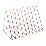 Prettyia Simple Stylish Metal Desktop Bookshelf, Book Stand Rack, Book Holder, Rose Gold