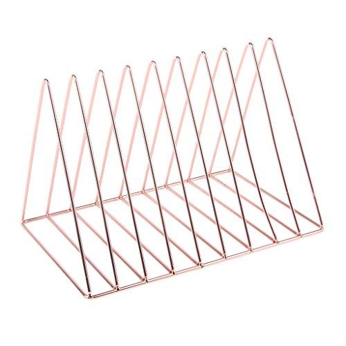 Prettyia Simple Stylish Metal Desktop Bookshelf, Book Stand Rack, Book Holder, Rose Gold by Prettyia (Image #10)'