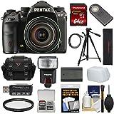 Pentax K-1 Mark II Full Frame Wi-Fi Digital SLR Camera & FA 28-105mm Lens with 64GB Card + Battery + Flash + Case + Tripod + Kit