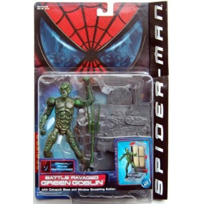 "SPIDER MAN "" GREEN GOBLIN "" BATTLE RAVAGED GREEN GOBLIN MOC"