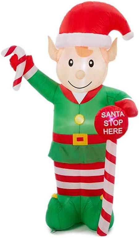 Amazon.com: Winter Wonder Lane LED - Elf hinchable (8 pies ...