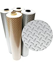 Rubber-Cal Diamond Plate Metallic PVC Flooring