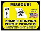 Missouri Zombie Hunting Permit (Bumper Sticker)