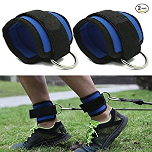 Doestyle Ankle Straps, Adjustable Fit Ankle Cuff Strap for GYM Cable Machine Workouts with Durable Cuffs for Ab, Leg & Butt Weight Exercises Men & Women Fitness (Pack of 2) by Doestyle