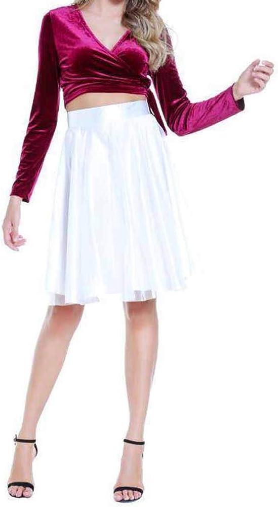 FRAUIT Falda de Tul Retro de Mujer 2 Piezas Mini Vestido Falda ...