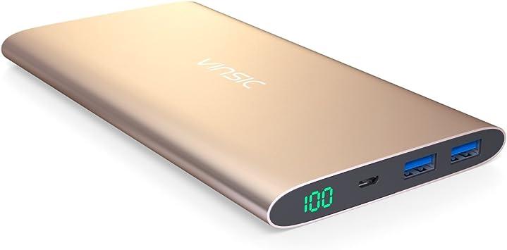 Bateria Externa, Vinsic® Power bank de 12000mAh, Cargador de ...