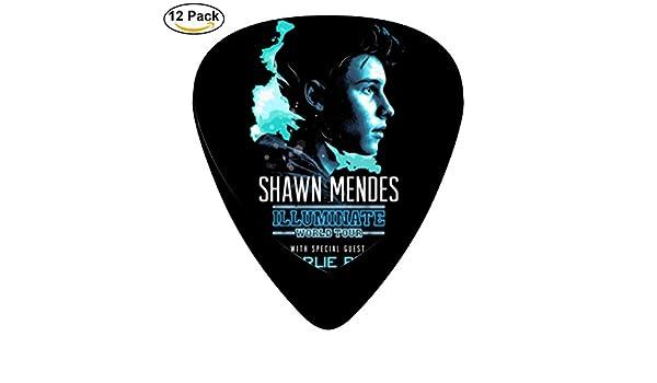Chono 12-Pack Shawn Mendes guitarra Picks púas para guitarra Bass ...