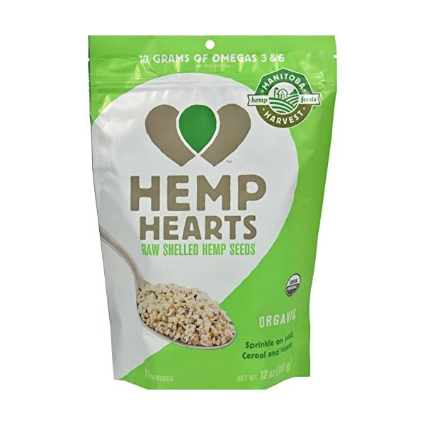 Pack of 6 x Manitoba Harvest Certified Organic Hemp Hearts Shelled Hemp Seed – 12 oz