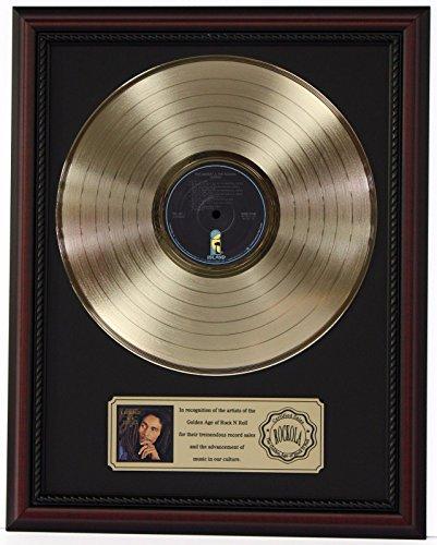 Bob Marley Memorabilia (BOB MARLEY LEGEND GOLD LP RECORD FRAMED CHERRYWOOD DISPLAY)
