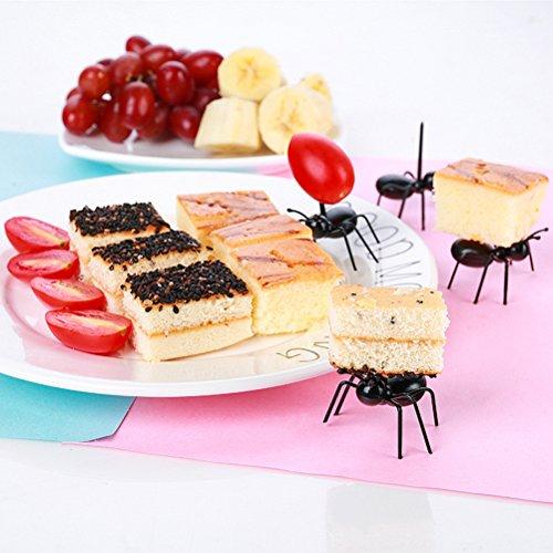 36Pcs Fruit Toothpick Dessert Forks, Plastic Ants Animal Appetizer Forks by TableRe (Image #3)