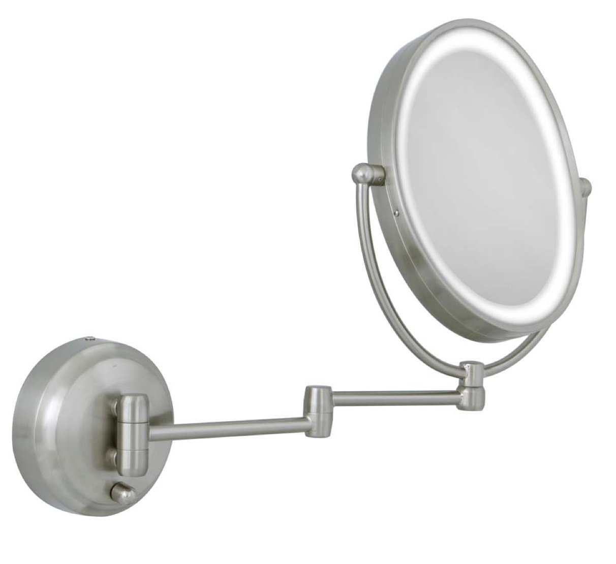 Amazon zadro 10x1x next generation led lighted oval wall amazon zadro 10x1x next generation led lighted oval wall mount mirror satin nickel personal makeup mirrors beauty amipublicfo Gallery