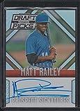 2014 Panini Prizm Matt Railey Diamondbacks Autographed Rookie Baseball Card #68