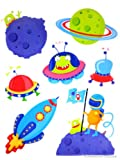 Outer Space Kids Wall Decal Aliens Ufo :Planets Mural Wallies Diy Room Sticker