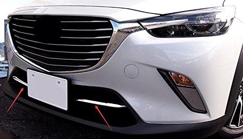 f/ür CX-3 CX3 2015-2018 Chromed Vordere K/ühlergrill Dekor ABS 2 St/ücke