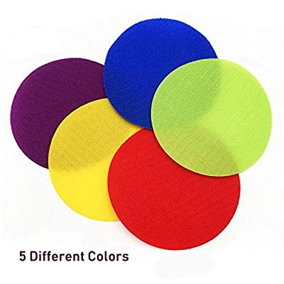 Unixing 30PCS Carpet Spot Markers Educate Carpet Circle Spots Markers Floor Sit Spots Circles Sitting Markers Dots for Kids Classroom Preschool Kindergarten: Office Products
