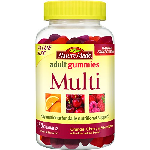 Nature Made® Multivitamin w. Vitamin A, C, D, E, B, Iodine and Zinc Adult Gummies 150 Ct Value Size
