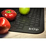 "XXL 22""x18"" Black Silicone Dish Drying Mat"