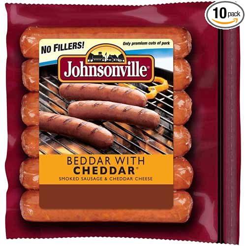 Johnsonville Beddar con sujetador Cheddar, 16.01 oz – 10 por ...