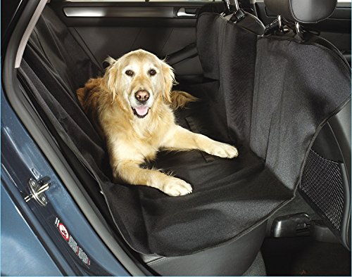 Jetlifee Pet Car Seat Cover For Dogs &Cats | Waterproof Convertible Backseat Polyester Protector With Adjustable Straps | Protect Upholstery From Dander, Hair & Dirt | For Cars, Jeeps, SUVs & Vans