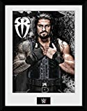 Wrestling Framed Collector Poster - WWE, Roman Reigns Photo (16 x 12 inches)