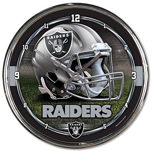 NFL Oakland Raiders Chrome Clock, 12