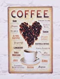 20X30 Cm Vintage Metal Tin Signs Hot Coffee Home Cafe Wall Decor Art Poster