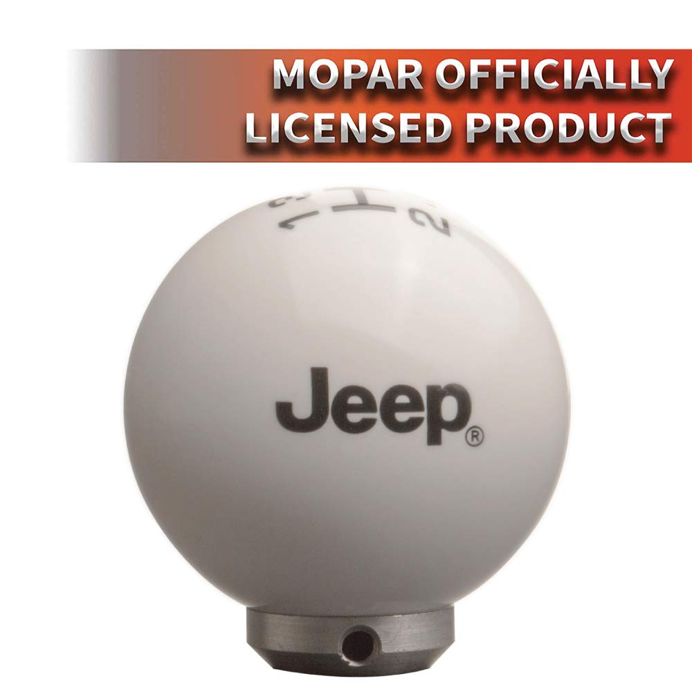White//Black Speed Dawg M502JP-FBK-6RDR-UM Jeep Officially Licensed 6 Speed Shift Knob for 2007-2018 Wrangler JK