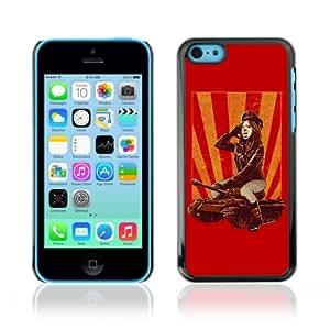 CQ Tech Phone Accessory: Carcasa Trasera Rigida Aluminio para Apple iPhone 5C - Pop Art Woman & Tank
