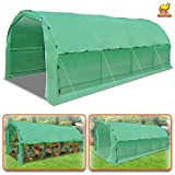 Strong Camel Large Portable Greenhouse Heavy Duty 20′ X10′ X 7′ Walk In Outdoor Plant Gardening Hot Green House with ABS Snap Clamp