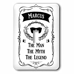 InspirationzStore The Man The Myth The Legend - Marcus - The Man The Myth The Legend - personal name personalized gift - Light Switch Covers - single toggle switch (lsp_232330_1)