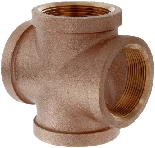 Lead Free Brass Pipe Fitting, Cross, Class 125, 1