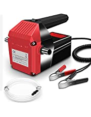Oil Transfer Pump Extractor, Electric Oil Pump Fast Oil Change Transmission Fluid Extractor Pump, 12v 60w Diesel Fluid Scavenge Suction Pump for Changing Oil, Boat, Tubes, Truck, RV, ATV, Riding Mower