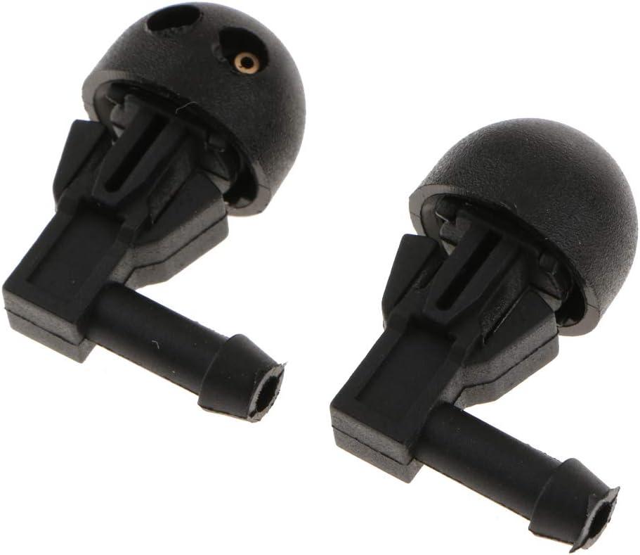 perfk 2pcs Gicleur de Pompe Buse de Pulv/érisation de Lave-Glace Buse dEssuie-Glace Avant Buse dArrosage en Taille de 17x30mm pour Peugeot 206
