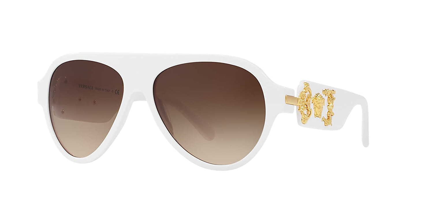 de205a6f0822 Versace Mens Only At Sunglass Hut Sunglasses (VE4323) White/Brown Acetate -  Non-Polarized - 58mm: Versace: Amazon.co.uk: Clothing