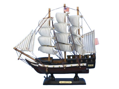 Constitution Wood Tall Ship Model - 6