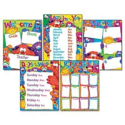 Trend - Learning Chart Combo Pack, Fury Friend, Charts, Multi, Sold as 1 Package, TEP T38964 by TREND