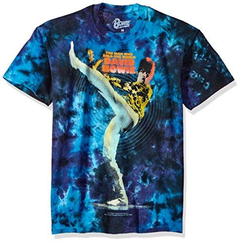 Liquid Blue Unisex-Adult's Bowie David Kick Tie Dye Short Sleeve T-Shirt, Multi Colored, X-Large